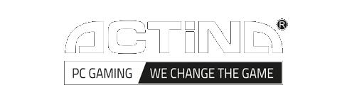Actina Logo in Black And White