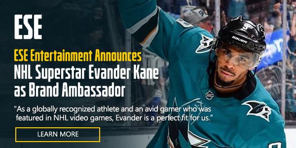 ESE Entertainment Announces NHL Superstar Evander Kane as Brand Ambassador
